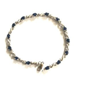 Jewelry - Authentic diamond and natural sapphire bracelet